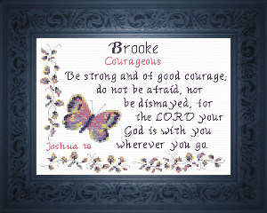 Name Blessings - Brooke | Crafting | Cross-Stitch | Religious