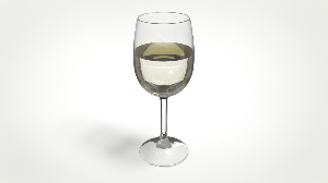 glass of wine ( maya / keyshot )