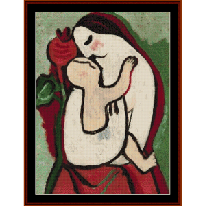 Mother and Child II - Galand cross stitch pattern by Cross Stitch Collectibles | Crafting | Cross-Stitch | Wall Hangings