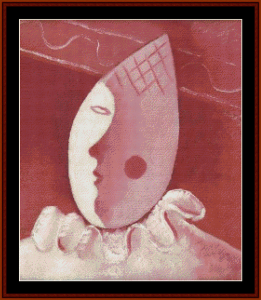 Pink Clown - Galanda cross stitch pattern by Cross Stitch Collectibles   Crafting   Cross-Stitch   Wall Hangings