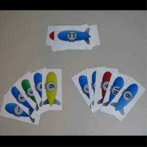 Printable blimp number cards – Ready For Play Today! | Photos and Images | Children