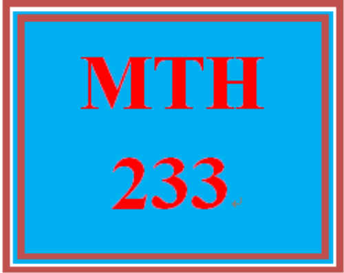 First Additional product image for - MTH 233 Week 1 DQ 2