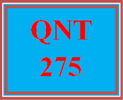First Additional product image for - QNT 275 Week 5 Participation Instinct, Debate, and Data Make the Best Decisions