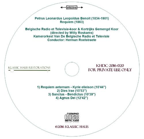 Third Additional product image for - Peter Benoit: Requiem - BRT Chorus & Orchestra/Herman Roelstraete