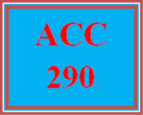 First Additional product image for - ACC 290 Week 1 participation Four Basic Financial Statements