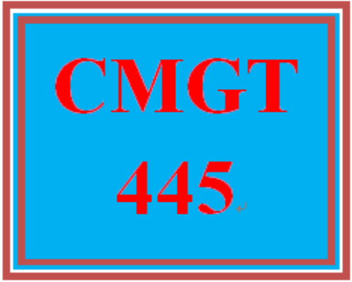 First Additional product image for - CMGT 445 Week 1 Participation Supporting Activity: Integrating Domain-Specific Needs