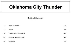 billy donovan oklahoma city thunder basketball playbook