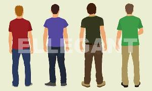 teens viewed from back (pfb-034)