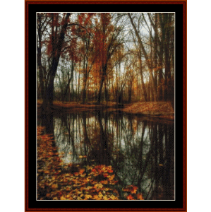 autumn stillness - photograph cross stitch pattern by cross stitch collectibles