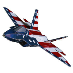 Paper F-22 US Flag | Crafting | Paper Crafting | Paper Models