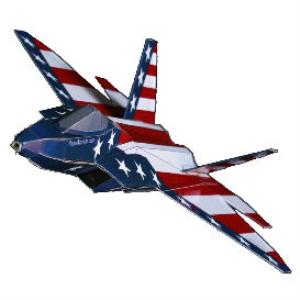 paper f-22 us flag