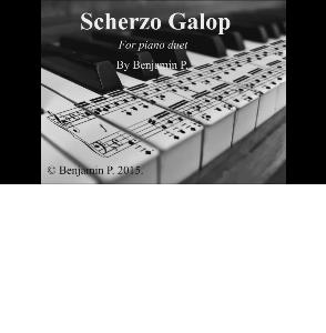 Benjamin Pölhe: Scherzo Galop fpr piano duet | eBooks | Sheet Music