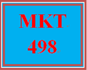 MKT 498 Week 4 Marketing Communications | eBooks | Education