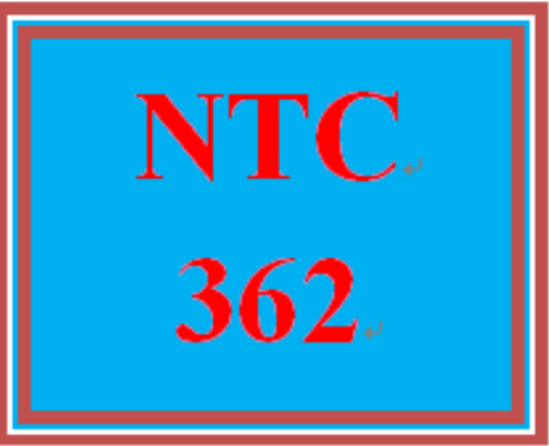 First Additional product image for - NTC 362 Entire Course