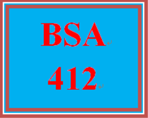 BSA 412 Week 3 Individual: Data Dictionary, Databases and ERD's | eBooks | Education