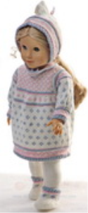 dollknittingpattern 0153d marthe - dress, pants, cap and socks-(english)