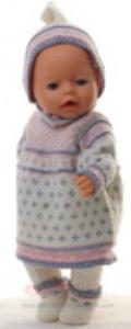 DollKnittingPatterns 0153D MARTHE - Kleid, Strumpfhose, Mütze und Schuhe-(Deutsch) | Crafting | Knitting | Other