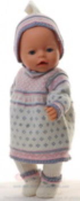 Third Additional product image for - DollKnittingPatterns 0153D MARTHE - Jurk, muts, broek, Sokjes-(Nederlands)