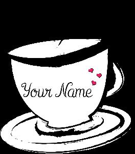 logo tea cup company. logo design