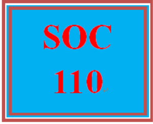 SOC 110 Entire Course | eBooks | Education