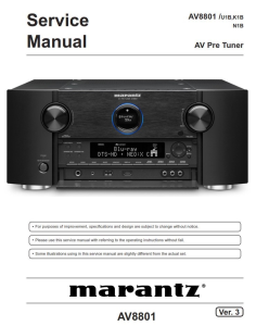 Marantz AV8801 Pre-Amplifier Service Manual | eBooks | Technical