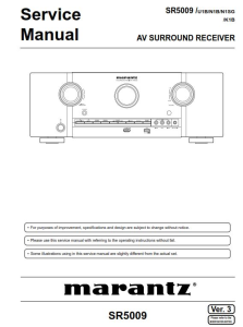Marantz SR5009 receiver Service Manual | eBooks | Technical