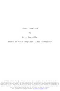 Linda Lovelace Script | eBooks | Plays and Scripts