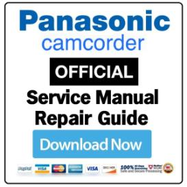 panasonic vdr-m30 camcorder service manual