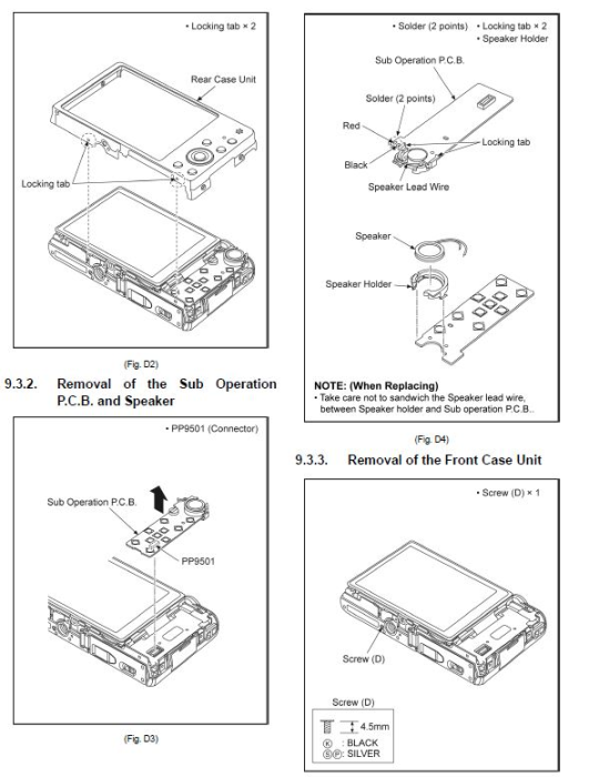 Second Additional product image for - Panasonic Lumix DMC TZ70 TZ71 ZS50 Digital Camera Service Manual