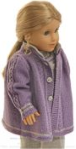 dollknittingpattern 0154d sophia (august) - coat, pants, short sleeved sweater, hat and shoes-(english)