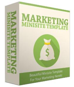 marketing minisite template v32016