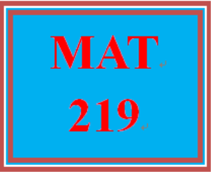 MAT 219 All Participations | eBooks | Education