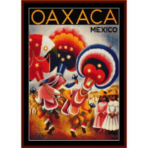 Oaxaca, Mexico - Vintage Travel Poster cross stitch pattern by Cross Stitch Collectibles | Crafting | Cross-Stitch | Wall Hangings