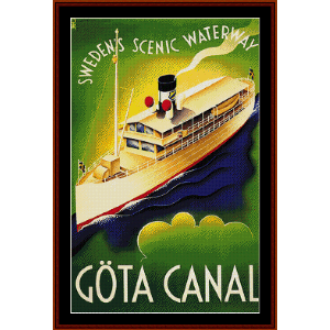 Gota Canal, Sweden (Vintage Poster) cross stitch pattern by Cross Stitch Collectibles | Crafting | Cross-Stitch | Wall Hangings