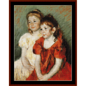 Young Girls - Cassatt cross stitch pattern by Cross Stitch Collectibles | Crafting | Cross-Stitch | Wall Hangings