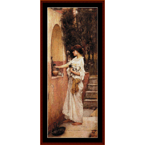 A Roman Offering - Waterhouse cross stitch pattern by Cross Stitch Collectibles | Crafting | Cross-Stitch | Wall Hangings