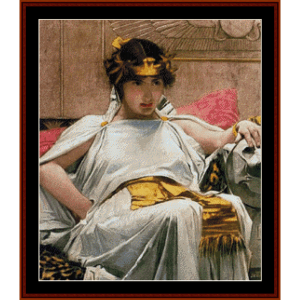 Cleopatra - Waterhouse cross stitch pattern by Cross Stitch Collectibles | Crafting | Cross-Stitch | Wall Hangings