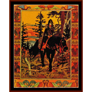 the black knight - bilbin cross stitch pattern by cross stitch collectibles