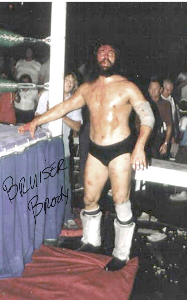 bruiser brody pre-print autographed photo