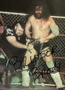 bruiser brody pre-print autographed photo 4