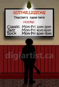 GuitarLesson_Boy_1 | Photos and Images | Digital Art