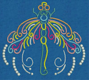 Laura's Neon Dragonflies Collection DST | Crafting | Embroidery