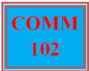 COMM 102 Week 5 Presentation Skills-Note the Due Date for this assignment | eBooks | Education