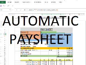 employee time card with pay sheet