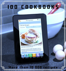 100 Cookbooks: More than 10 000 recipes [RESALE RIGHTS] | eBooks | Food and Cooking