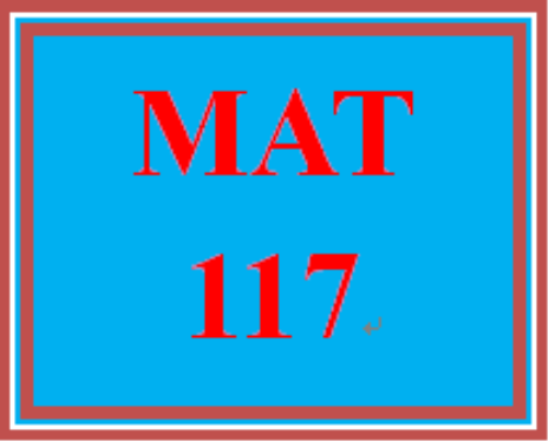 First Additional product image for - MAT 117 Week 3 Checkpoint