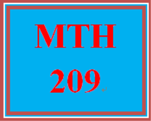 MTH 209 Week 4 Checkpoint | eBooks | Education