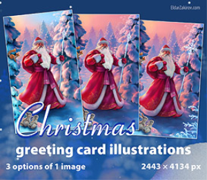 santa claus, hi-res stock image for greeting cards etc.
