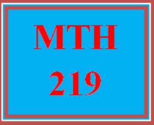 MTH 219 Week 1 MyMathLab® Week 1 Checkpoint | eBooks | Education