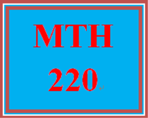 MTH 220 Week 4 CheckPoint | eBooks | Education